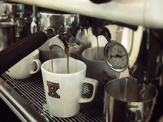 Freshly made coffee at KITCHEN